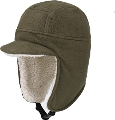 Amazon.com: AISIYEDO Windproof Trapper Hat Mens Womens Outdoor Sports  Winter Warm Earflap Cap for Skiing Cycling Hiking Fishing: Clothing