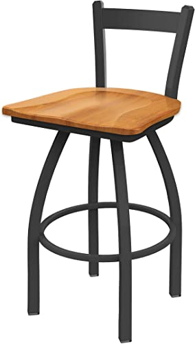 Holland Bar Stool Co. 821 Catalina Low Back Swivel Bar Stool, Medium Maple