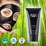 Black Charcoal Peel Off Face Mask / Japanese Organic Bamboo / Blackhead Remover / Detoxifying Anti Wrinkle Mask