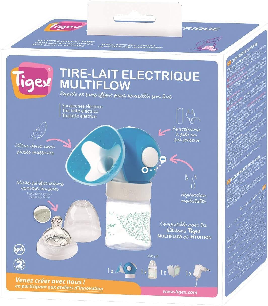 Extractor de Leche El/éctrico con Intensidad de Succi/ón Regulable Tigex Multiflow