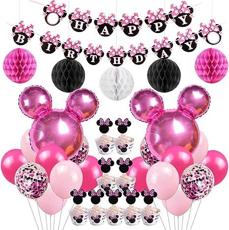 Amazon.com: Minnie temática de fiesta de cumpleaños ...
