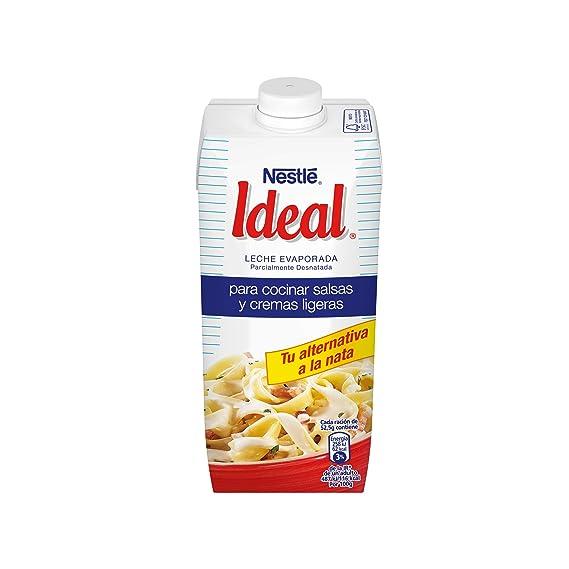 Nestlé Ideal - Leche evaporada Sin Lactosa- Caja de leche evaporada 12 x 500 ml