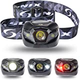 Ultra-Bright High Power Headlamp Flashlight Torch with 3 AAA Batteries--- Adjustable White, Red, and Strobe Light Ideal for Camping, Running, Hunting, Reading, Fishing and Other Outdoor Activities Black