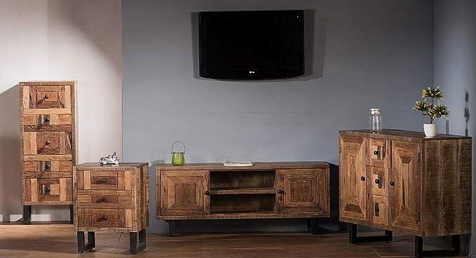 SIT-Möbel Parquett - Mueble bajo (Madera Envejecida, Patas ...