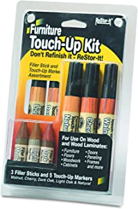 ReStor-it Furniture Touch Up Kit, 5 Markers, 3 Filler Sticks (18000)