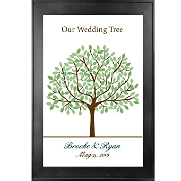 amazon com signature only wedding guest book tree 9 24x36 for 150