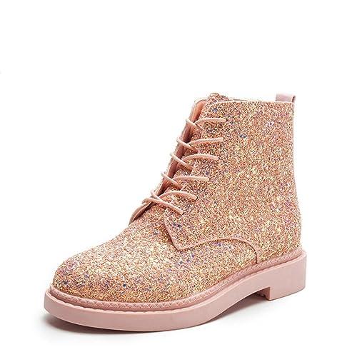 Botines de Mujer Botas Brillo Zapatos Ocasionales de Martin por ESAILQ: Amazon.es: Zapatos y complementos