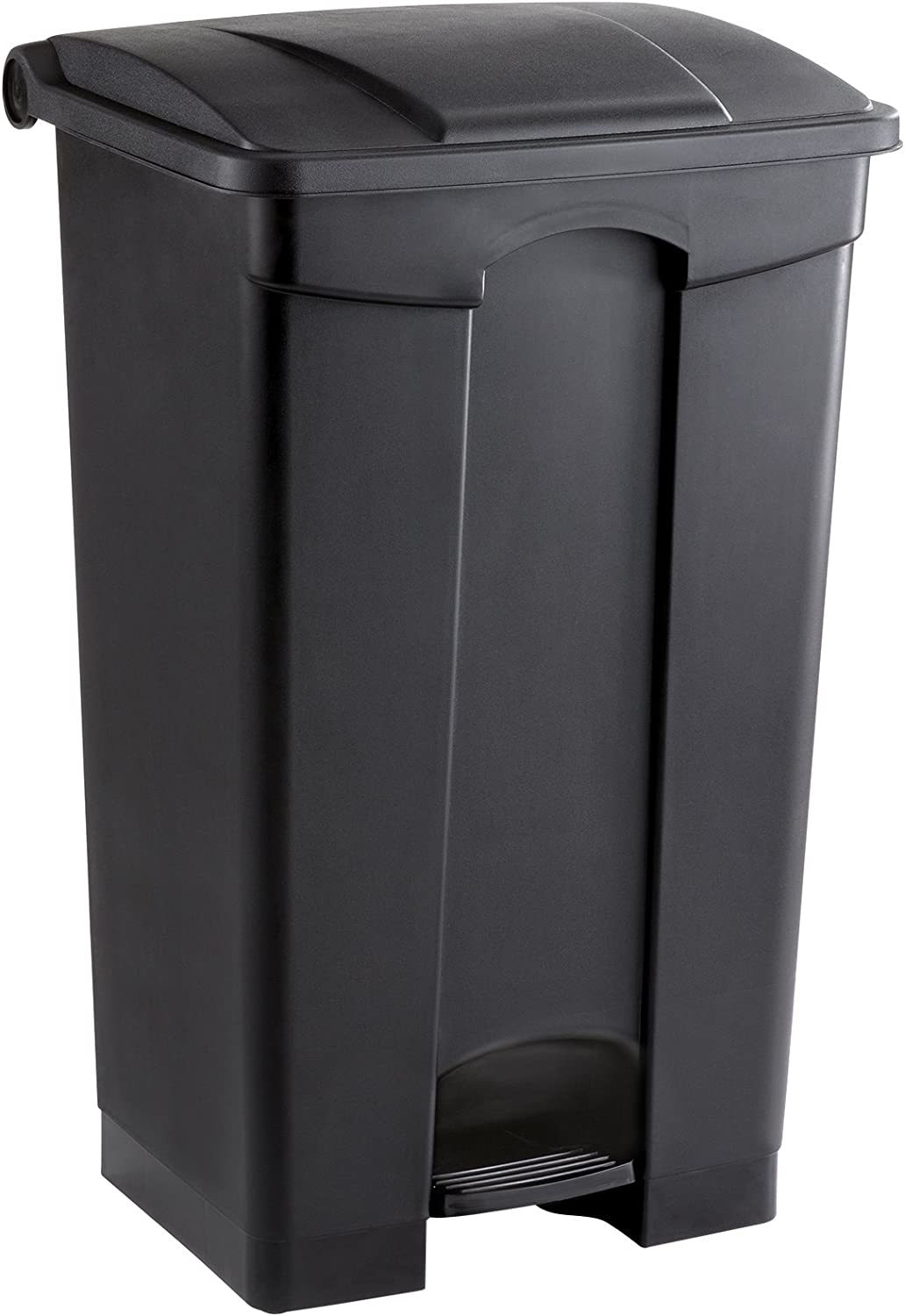 Safco Products Plastic Step-On Trash Can 9923BL, Black, Hands-free Disposal, 23-Gallon Capacity 716qfrp8UKL