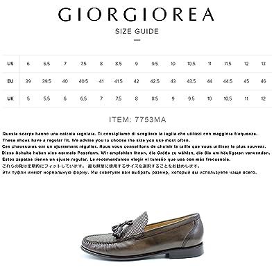 Men/'s mocassin brown leather shoes handmade Italian elegant GIORGIO REA 7753MA