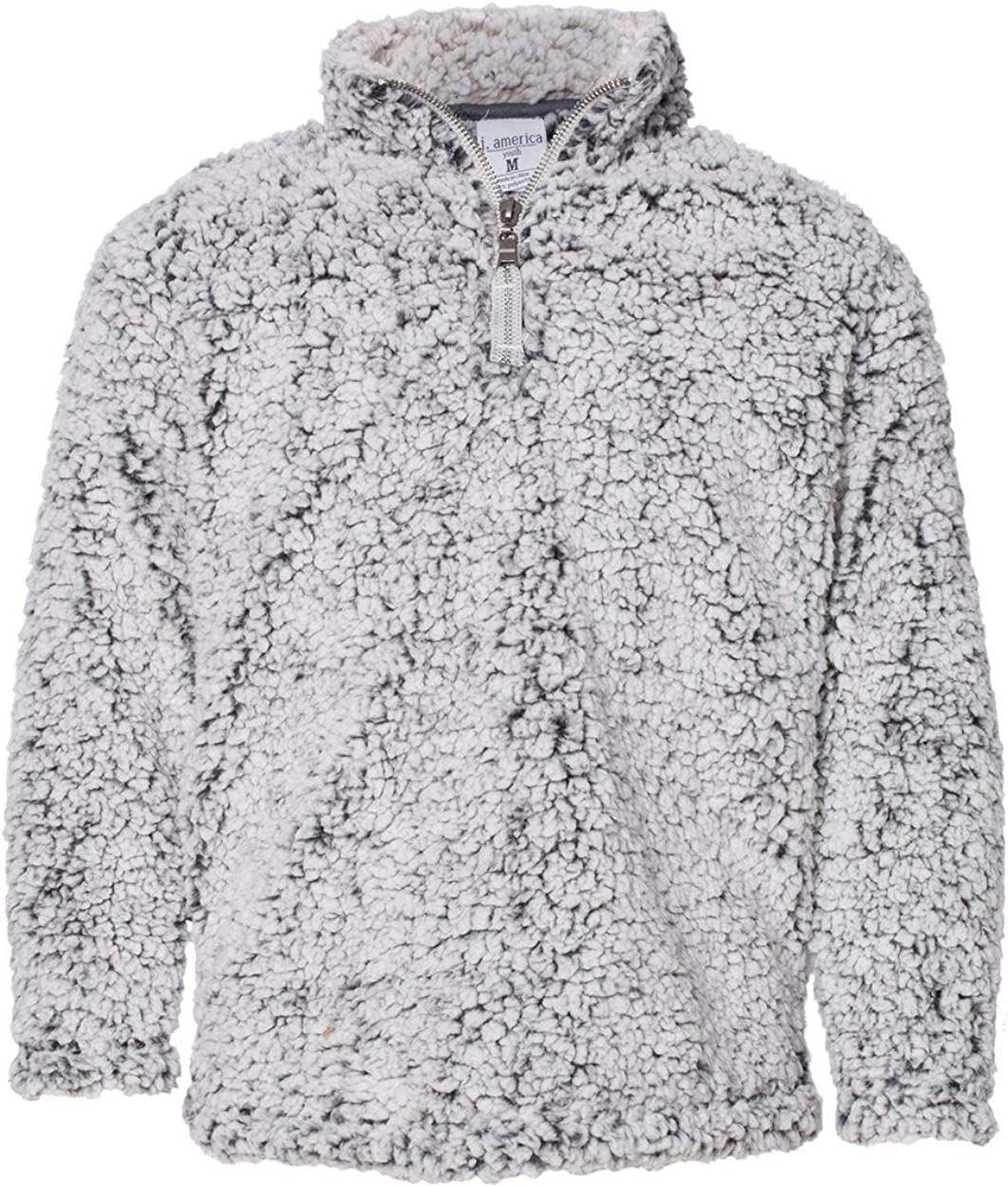 J. America Epic Sherpa Youth Quarter Zip Pullover 8462