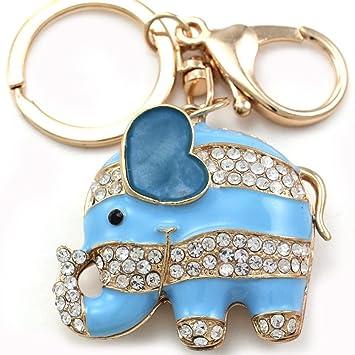 Amazon.com: New Lucky Elefante Llavero Bolsa Coche Encanto ...