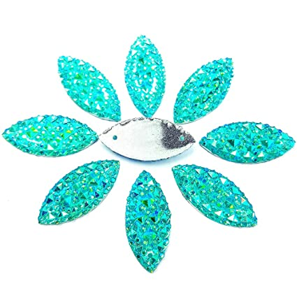 Image Unavailable. Image not available for. Color  11x23mm Crystal Clear  Blue Rhinestones Flat Back Sew On Resin Horse Eye Gems Fancy Strass Stones 9ef24d064063