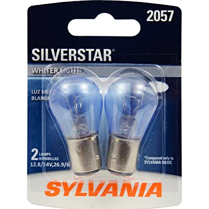 Amazon.com: SYLVANIA 2057 SilverStar High Performance Miniature Bulb, (Contains 2 Bulbs): Automotive