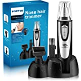 Nose Hair Trimmer for Men Women, POPPYO 2018 Professional Nose, Ear, Eyebrow Hair Trimmer Clipper, Waterproof Stainless Steel Blade, Wet/Dry, Battery-Operated, All in 1 Hair Remover Set