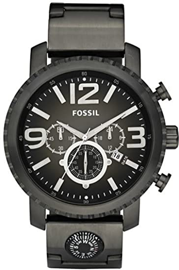 b122e3de2854 Fossil Men s Gage JR1252 Black Stainless-Steel Quartz Watch with Black  Dial  Fossil  Amazon.ca  Watches