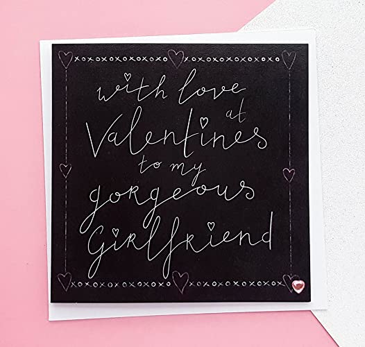 Girlfriend Valentines Card Handmade Valentine S Day Card Cards