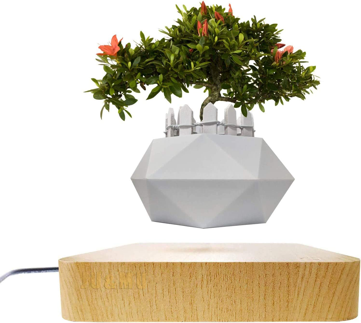 Levitating Air Bonsai Rotation Flower  Magnetic Suspension Floating Pot Plant