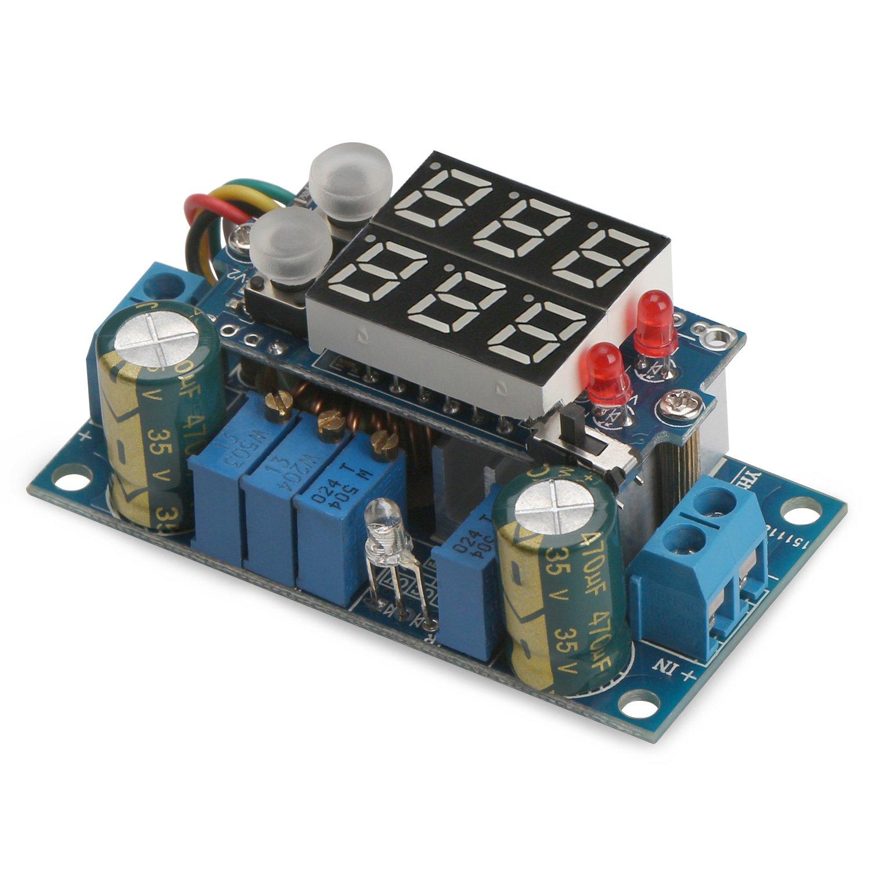 5A Buck Converter, DROK Voltage Regulator Board DC 6-36V Down to 1.25-32V 5A Constant Current Voltage MPPT Solar Controller Module 24v to 12v 5v with LED Display for Charging Battery Car Power Supply by DROK (Image #5)