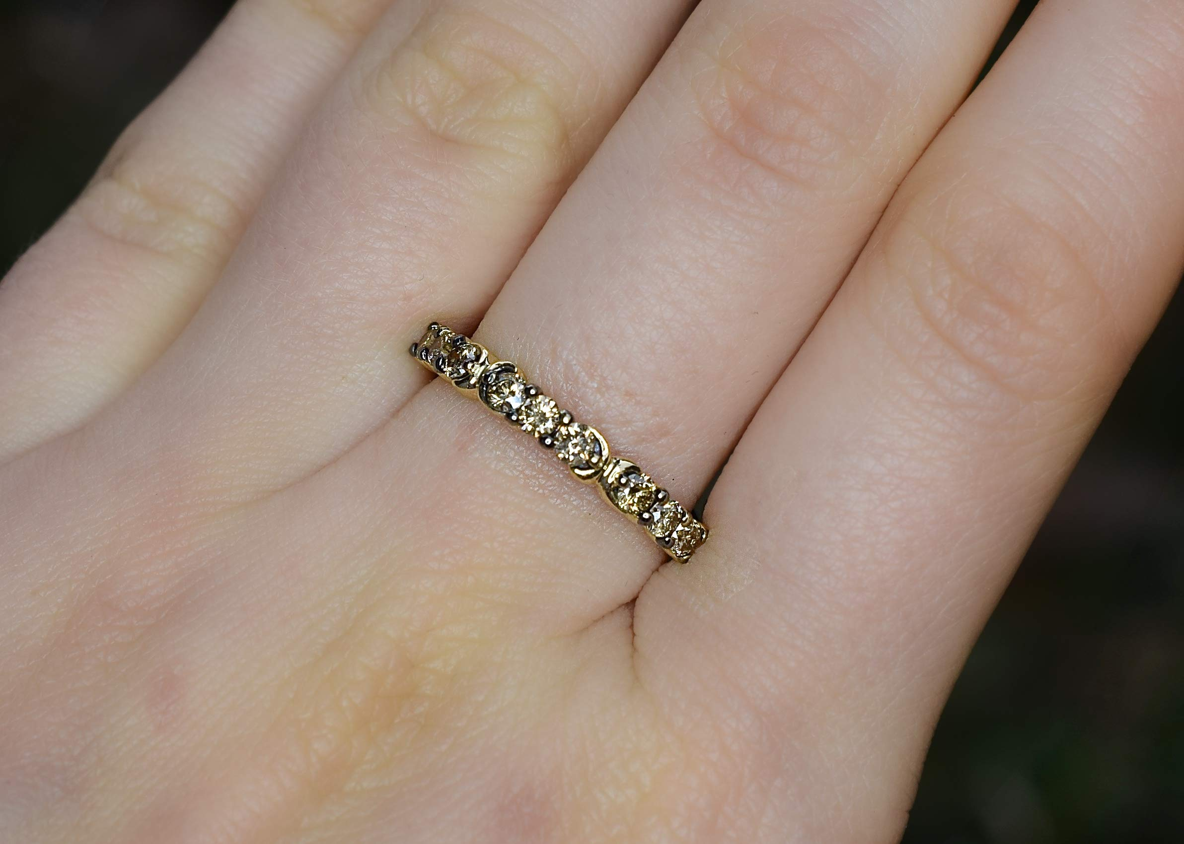 LeVian Ring 1/2 ct Chocolate Diamonds Band 14K Yellow Gold Size 7 by LE VIAN (Image #2)