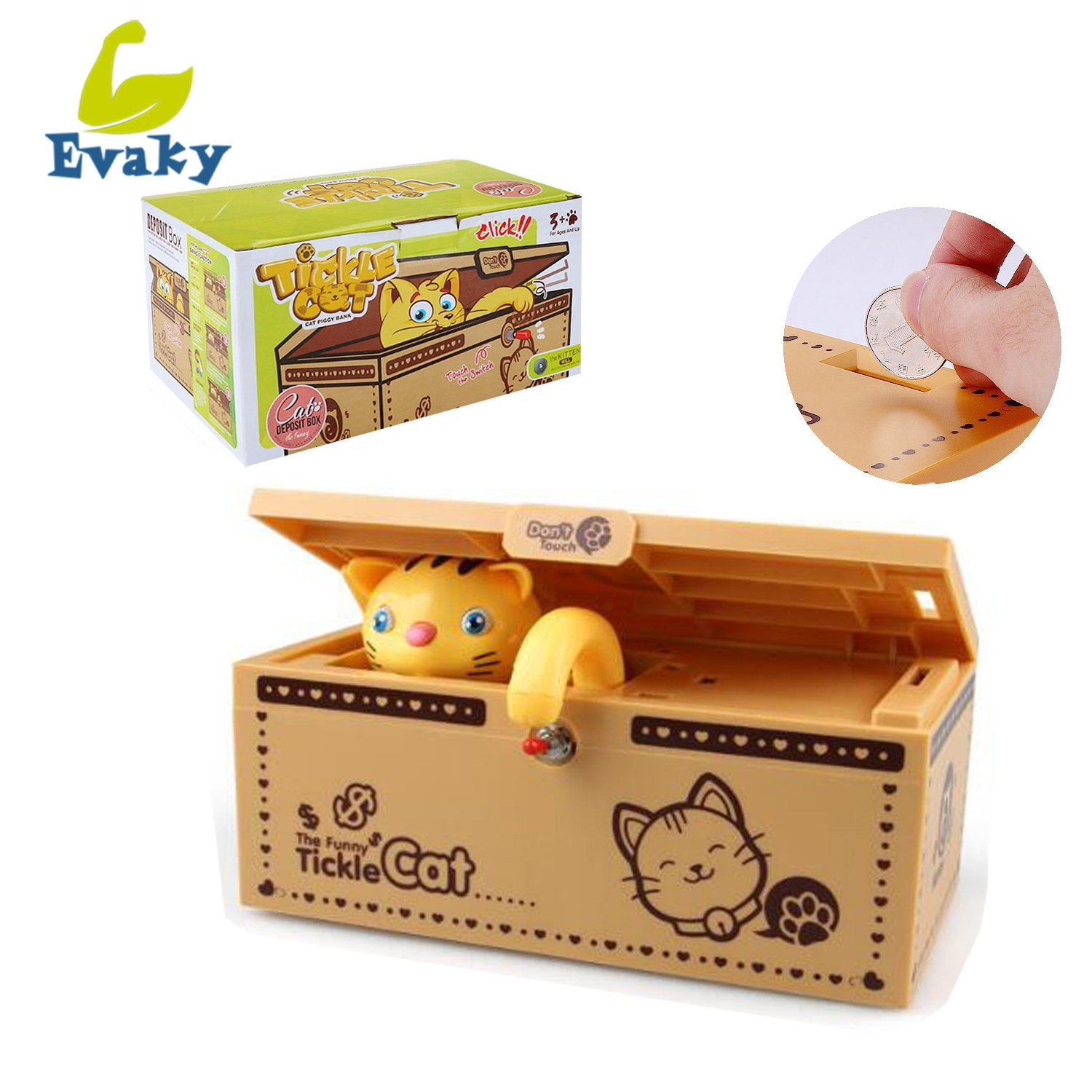 Evaky Creative Don't Touch Tiger Useless Box Unique Musical Wooden Box, Adult Gifts and Practical Jokes Funny toys for friends and kids