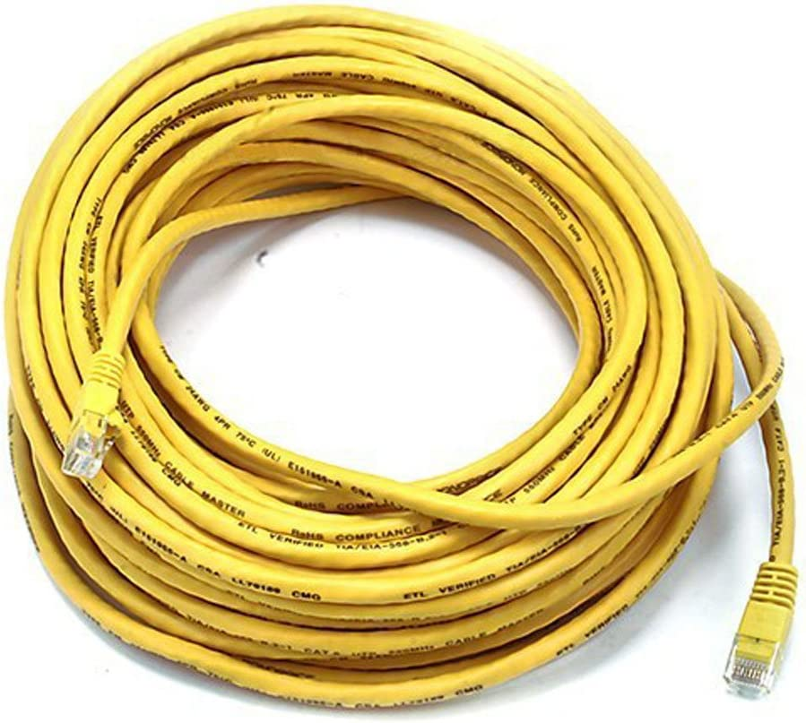 Yellow Monoprice 75FT Cat5e 350MHz Network RJ45 Network Cable Electronics