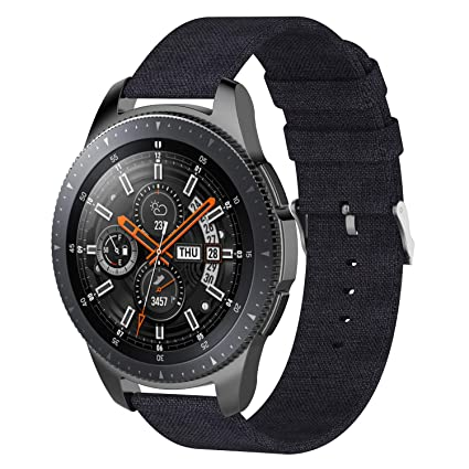 Compatible with Samsung Gear S3 Frontier Bands & Galaxy Watch 46mm Band, 22mm Woven Fabric Accessories Strap Wrist Replacement Band Compatible with ...