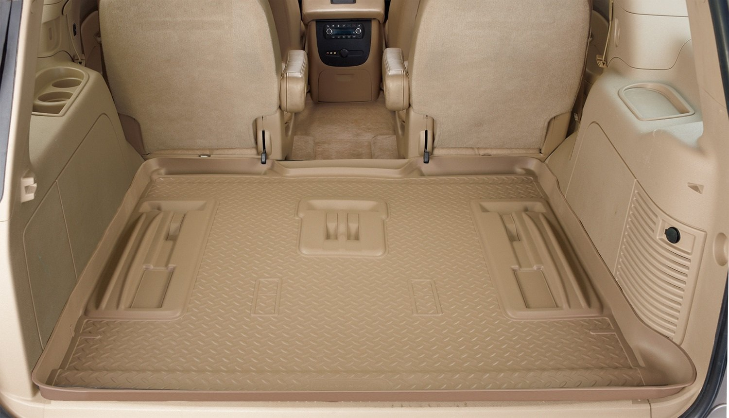 Husky Liners 40271 Custom Fit Molded Rear Cargo Liner for Stow-N-Go Seating (Black)