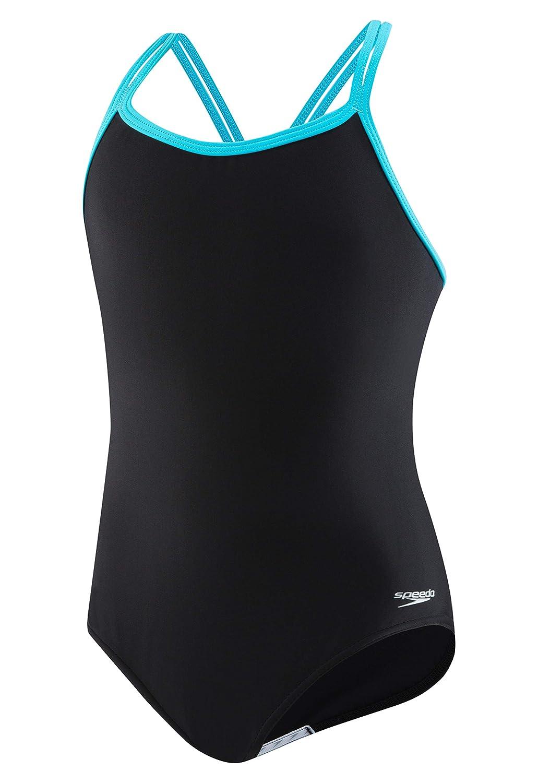 Speedo Crossback Onepiece Swimsuit (7-16) Speedo Swimwear 7714705-P