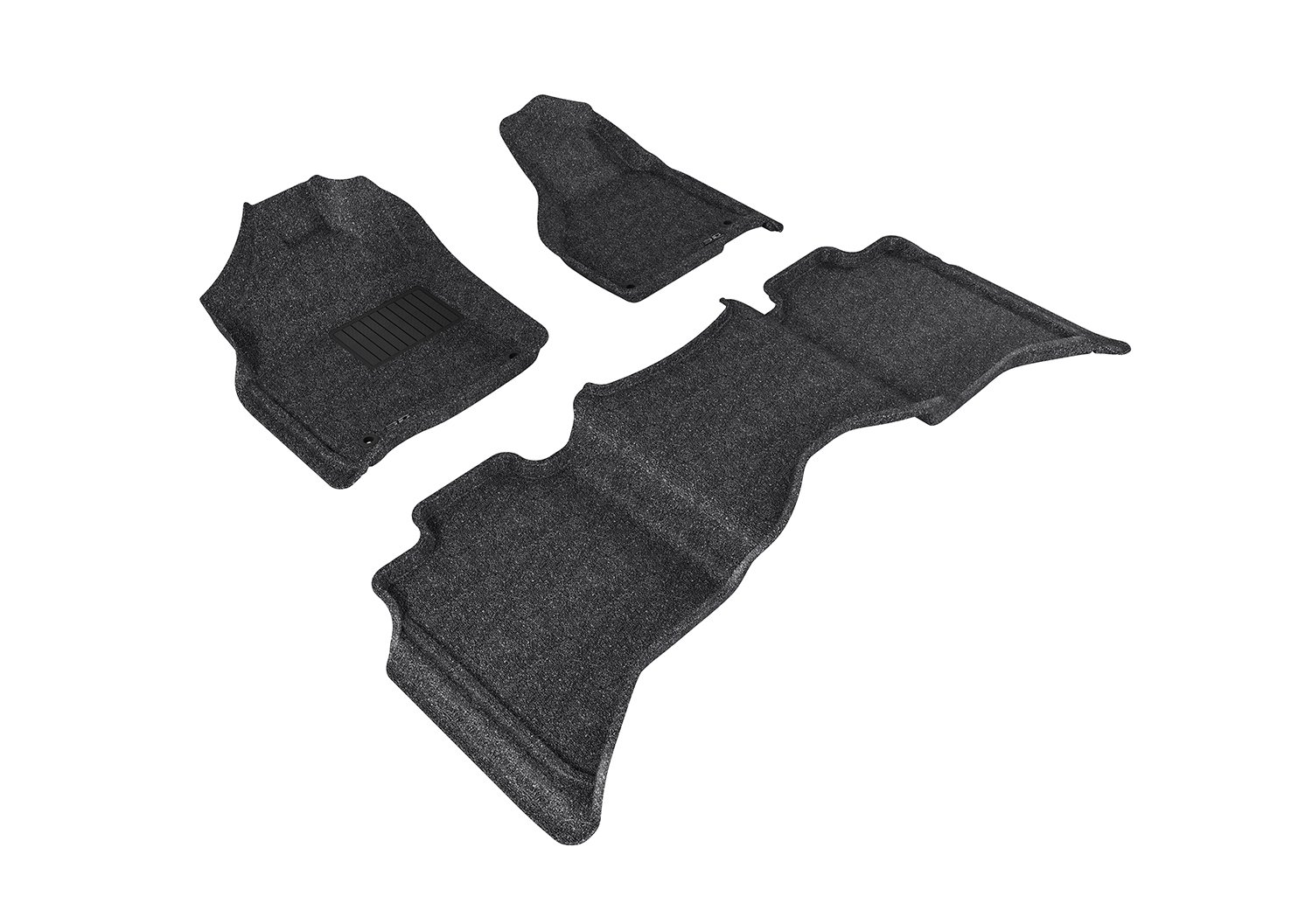 3D MAXpider L1DG02002209 Custom Fit Classic Series Floor Mats Black Complete Set For Dodge Ram 15//25//3500 Crew Cab Models