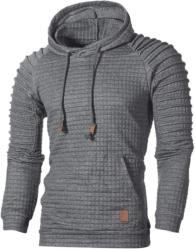 Herren Sweatshirt Dasongff Mode Herren Lange Ärmel Kapuzenpulli Tops Jacke Taschen Mantel Schrägem Reißverschluss Outweart Sweatshirt Kapuzenpullover