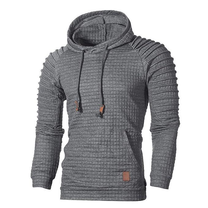 KEERADS Herren Kapuzenpullover Langarm Sweatshirt Jacke