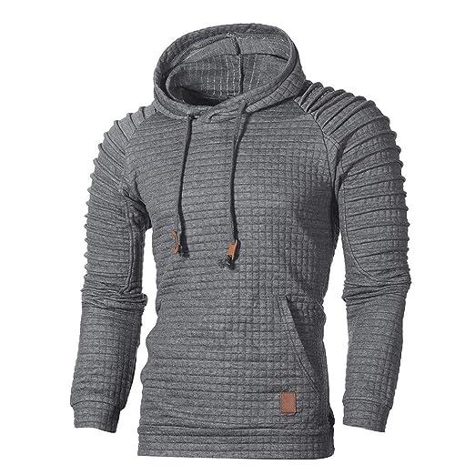af8d938e GOVOW Men's Outerwear Light Hooded Sweatshirt