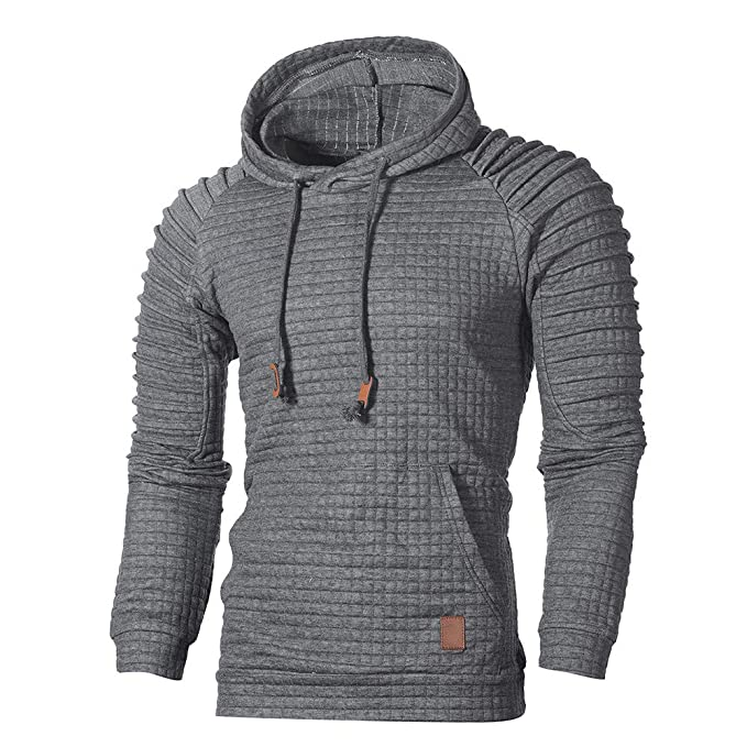 klassisch wähle spätestens Genieße den reduzierten Preis ☺Kapuzenpullover Herren Sweatshirt Hoodies mit Kapuzen Plaid Sweatjacke Top  Bluse Trainingsanzüge Sport Fitness Training Basic Pullover Langarmshirt ...
