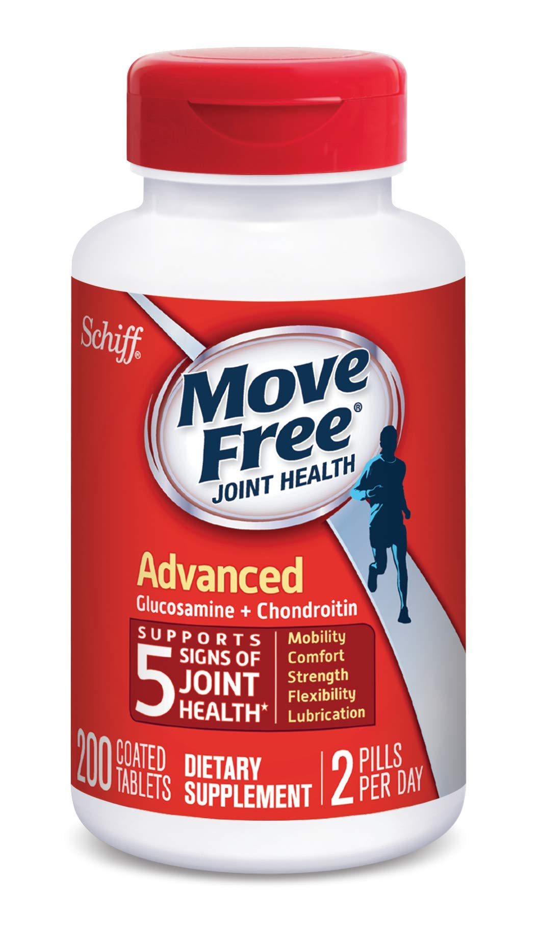 Glucosamine & Chondroitin Advanced Joint Health Supplement Tablets, Move Free (200 count in a bottle), Supports Mobility, Flexibility, Strength, Lubrication and Comfort by Move Free (Image #3)