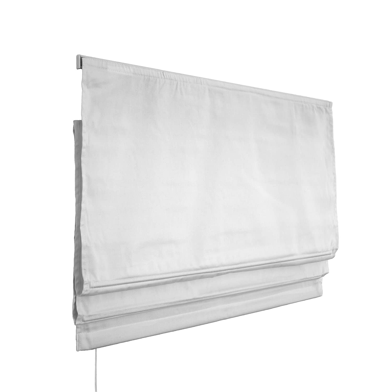 VICTORIA M Klemmfix Tenda a pacchetto per finestra montabile senza fori, 160 x 175cm, bianco