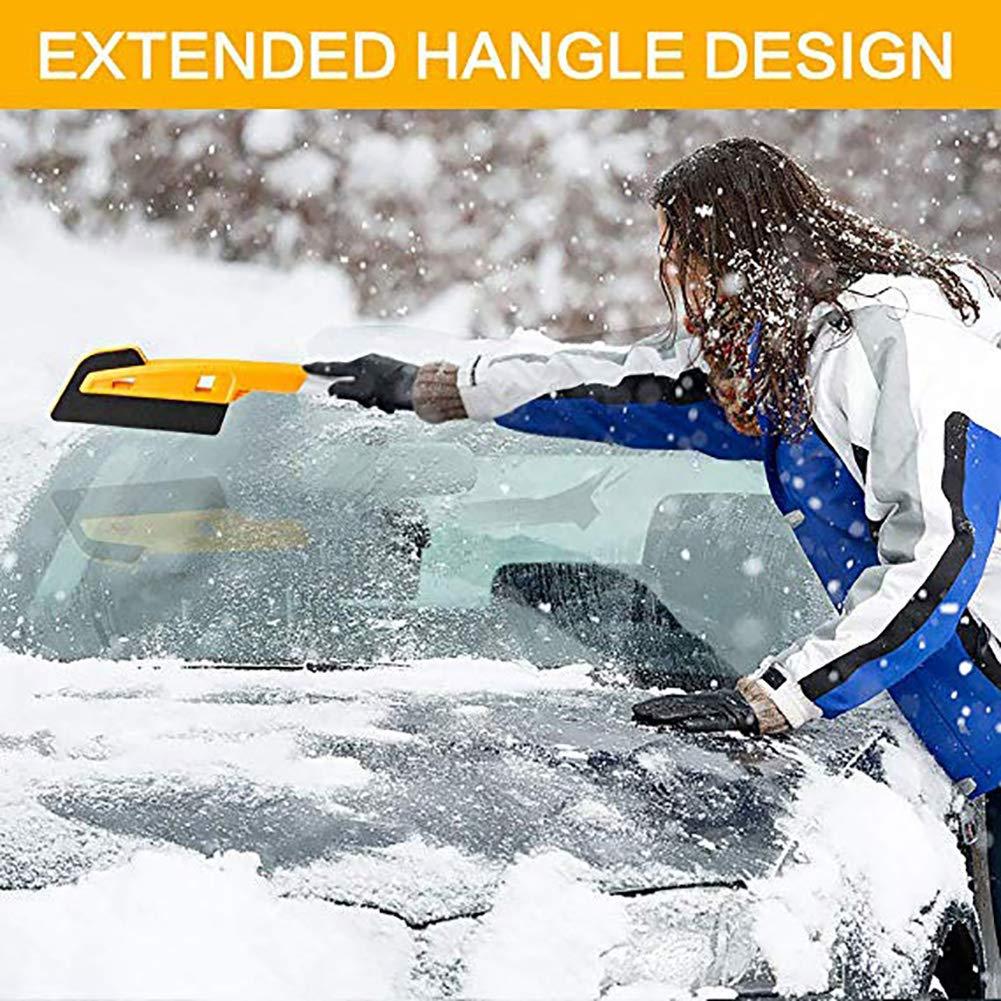 Queta Auto Eiskratzer Eisschaber Automatische 2 in 1 Schneeb/ürste Abnehmbar Schnee Pinsel und Schneebesen f/ür Autos Truck Car Windschutzscheibe