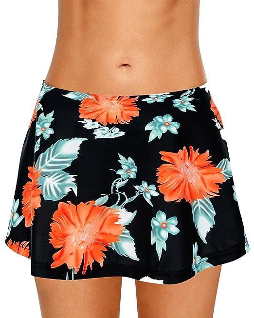 Los Angeles c4e9f cb2dd Dolamen Donna Pantaloni da Nuoto Gonna, 2018 Costumi da Bagno Donna  Pantaloncini Bikini Costume Intero Moda da Bagno Shorts Swimwear Costume  Mare