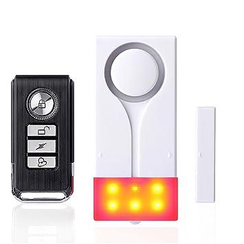 Control Remoto Luz Sonido Inalámbrico Magnético Inicio Seguridad Puerta Ventana Sensor Alarma Antirrobo Alto 108 dB: Amazon.es: Bricolaje y herramientas
