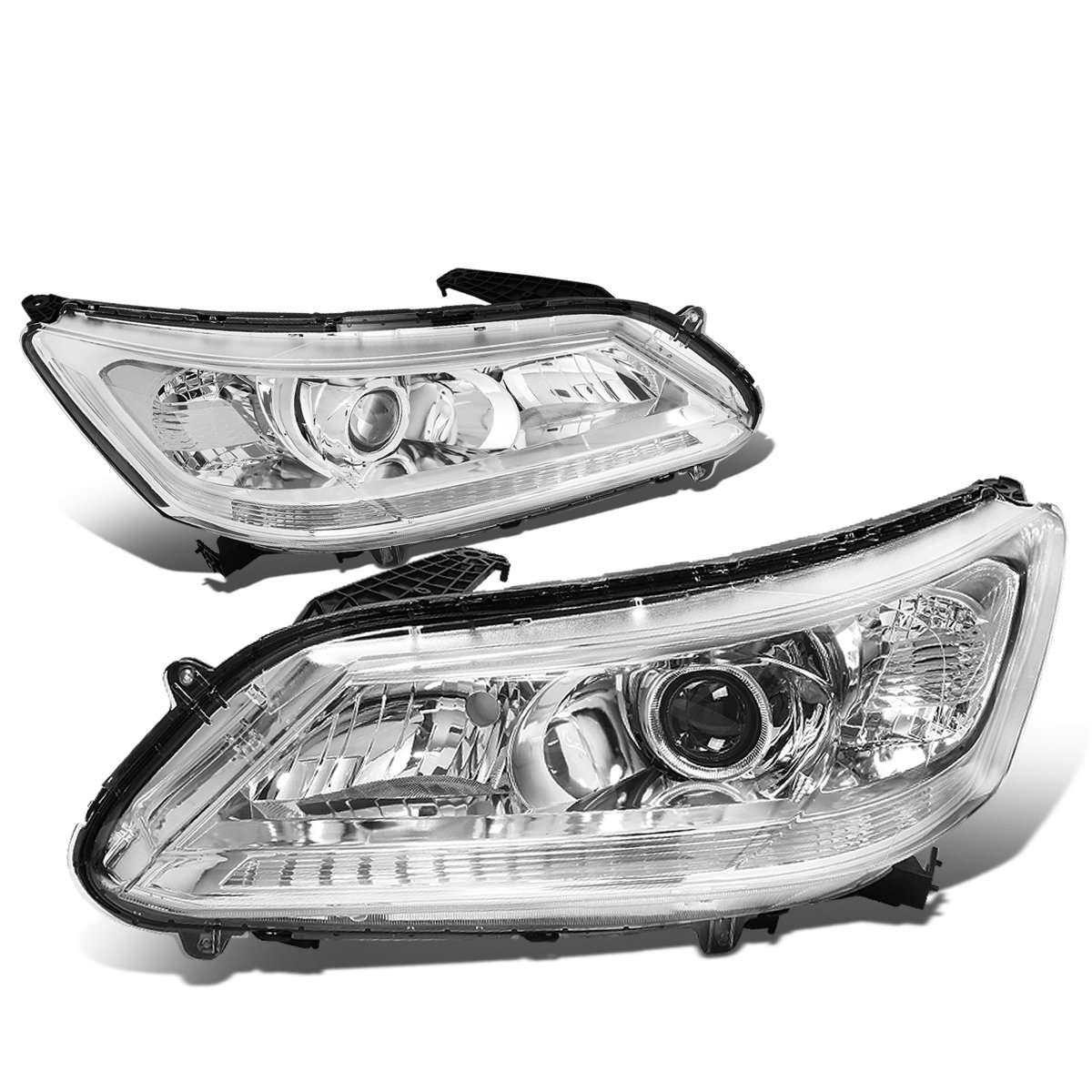 -Chrome 22 Post mount spotlight - 6 inch - 100W Halogen - Driver side WITH install kit 2007 Motorhome Class B FORD ECONOLINE VAN CHASSIS
