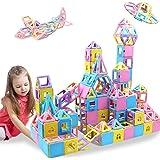 HLAOLA Magnetic Blocks 133PCS Upgrade Magnetic Building Blocks Magnetic Tiles Educational Toys Tiles Set for Kids Magnet Stac
