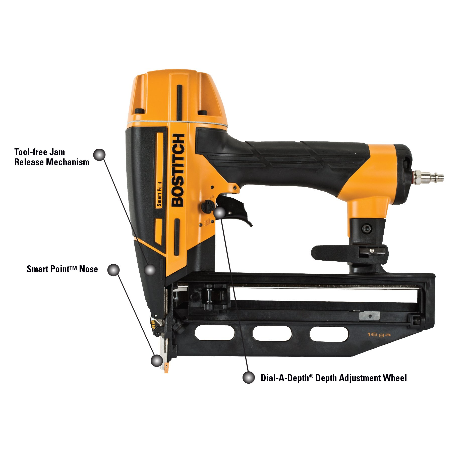 BOSTITCH BTFP71917 Smart Point 16GA Finish Nailer Kit