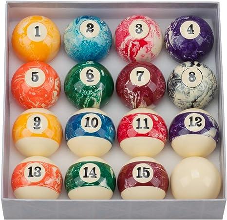 GSE Games & - Juego de bolas de billar de mármol de 2 1/4 pulgadas ...