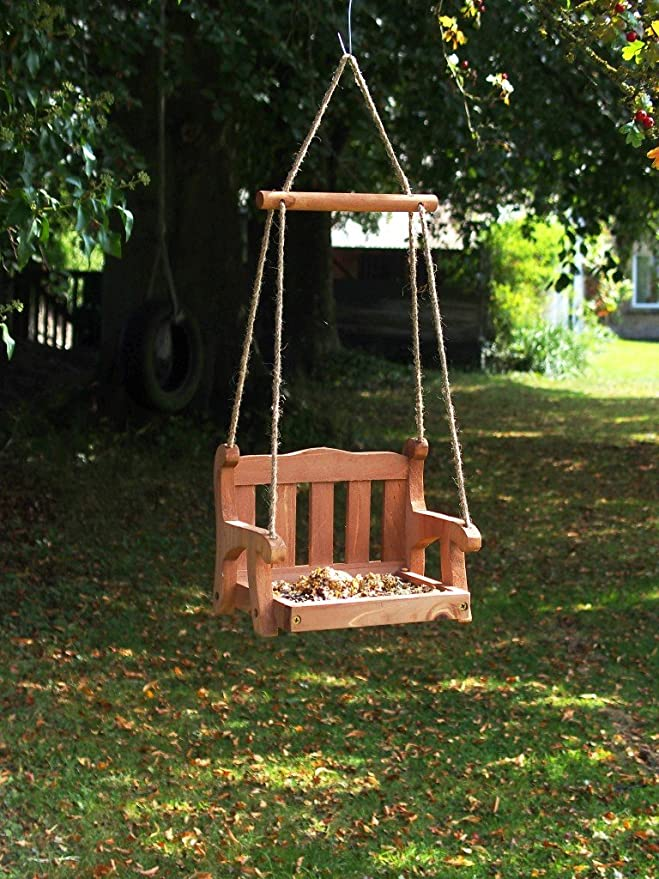Wildlife World - Comedero de pájaros, diseño de balancín: Amazon.es: Jardín
