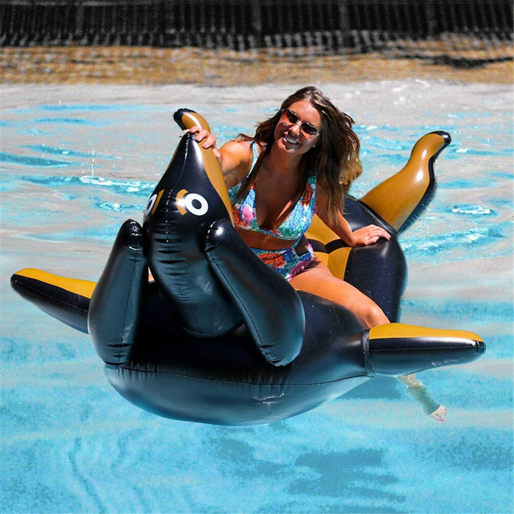 Inflatable Pool Float Raft,Large Thicken Inflatable Dachshund Shape Swim Ring Floating Row Toy for Adults