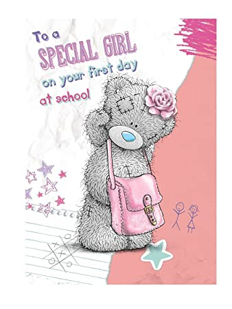 Girls 1st day at school me to you bear card amazon toys games girls 1st day at school me to you bear card m4hsunfo