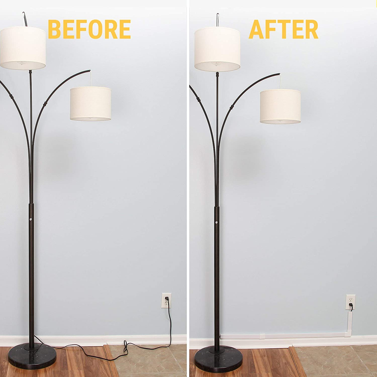 Amazon.com: Simple Cord Cable Concealer On-Wall Cord Cover ...