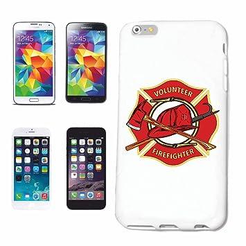 """Cubierta del Teléfono inteligente iPhone 7 """"CUERPO DE BOMBEROS DE LA INSIGNIA BOMBERO INSIGNIA"""