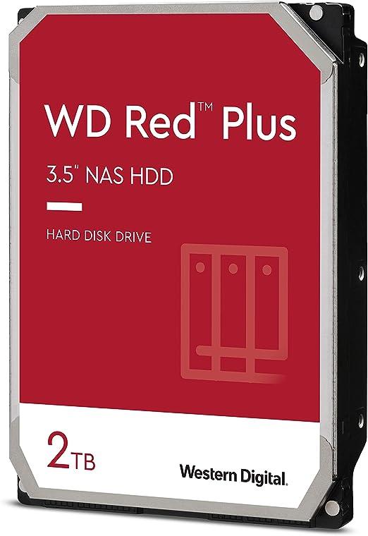 "Amazon.com: Western Digital WD Red Plus NAS Disco duro interno HDD - 5400 RPM, SATA 6 Gb/s, CMR, caché de 128 MB, 3,5"" -WD20EFZX: Computers & Accessories"