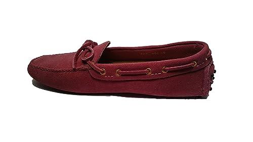 Car Shoe - Mocasines de ante para mujer rosa fucsia rosa Size: 36: Amazon.es: Zapatos y complementos