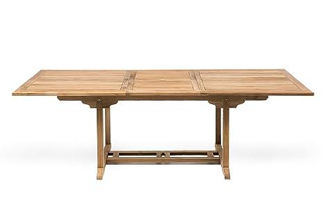 Tavolo da esterno in vero teak naturale cm allungabile a